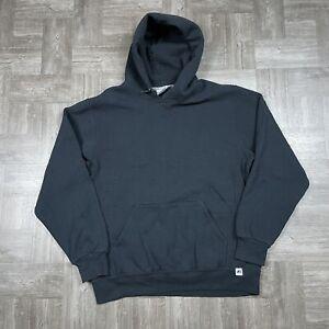 Russell Athletic Hoodie Black Men's L Blank Sweatshirt Classic Sports Logo