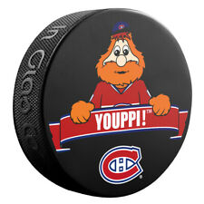 Montreal Canadiens Mascot YOUPPI Team Logo SOUVENIR NHL HOCKEY PUCK NEW
