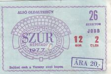 Nepstadion Budapest unknown ticket from 1977 Hungary