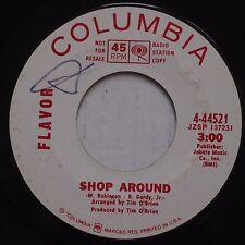 FLAVOR: Shop Around COLUMBIA DJ 45 psych POPSIKE bubblegum 45 hear!