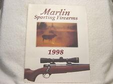 Marlin Sporting Firearms 1998 gun catalog