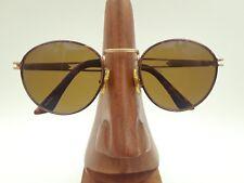 Vintage Sungear XR8 Riverwalk Gold Tortoise Metal Round Sunglasses Frames Italy
