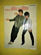 THE BEST OF HALL & OATES SONGBOOK PIANO/GUITAR/VOCALS SHEET MUSIC W/POSTERS.1982