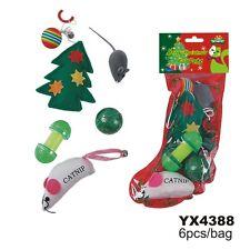 Christmas Gift Pet Dog Cat Toys Stocking Set Catnip Ball 6pcs Dog Cat Toys Set