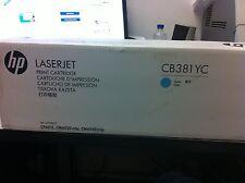 ORIGINALE HP CB381AC CB381A TONER CIANO 824A CM6030 CM6040 CP6015 NUOVO