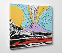 Quadro Vesuvius ANDY WARHOL Stampa su Tela Canvas - Poster - Pannello in Legno