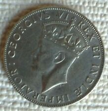 1941 East Africa George VI One Shilling Silver Coin