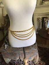 Vintage gold chain belt