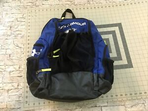 """16x18"""" Under Armour Sting Soccer #12 Royal Blue Backpack Preowned"""