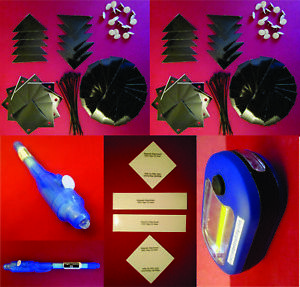 Practical Geocaching® - Deluxe Urban Night Cache Kit  - 150 pcs - Free Freight