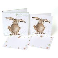 Lièvre Brained - Cartes Paquet - 4 Pliable & 8 Plat & 12 Enveloppes