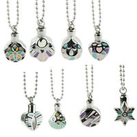 Enamel Stainless Steel Pendant Necklace Cremation Urn Jewelry Ashes Holder