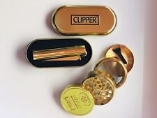 Clipper Gold Refillable Metal Lighter With Gold Grinder Pack!!!