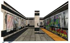 """In STOCK """"Subway Terminal 3D Pop Up"""" Diorama Display for 1/12 Action Figures"""