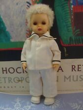 "Vintage Doll Jerri Lee 10"", Blond Caracul Wig, Original Sailor Outfit, American"