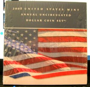 2007 United States Mint Annual Uncirculated Dollar Coin Set Unopened free ship