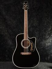 Takamine EF341SC Dreadnought Acoustic Electric Guitar with Hard Case, Black