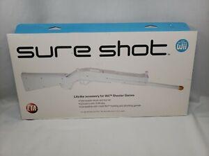 NIB Sealed CTA Sure Shot Nintendo Wii Game System White Rifle Shotgun Accessory