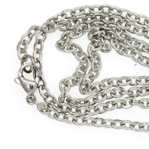 18 Gliederkette aus Edelstahl ca 55 cm lang Kette Halskette Handschellen Nr