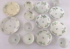Lot of 14 China Tea Cups Plate Red Blue Flower Crafts, Mosaics, Tiles, Decor