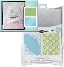Sizzix embossing folders CORNERS & LATTICE embossing folder set 656979