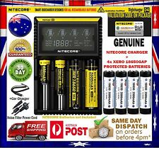 Nitecore D4 Intelligent Charger + 4x Protected (Panasonic) Xero 3500mAh Battery