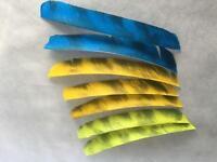5.5 in Trueflight Feathers Barred Traditional cut LW 1 Doz