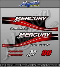 MERCURY 90hp FOURSTROKE - DECAL KIT - OUTBOARD DECALS