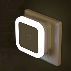 LED Sensor Control night wall light lamp toilet light US plug Bedroom Baby bulb