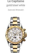 Andre Belfort Le Capitaine Gold /Steel White Watch Brand new and Boxed.