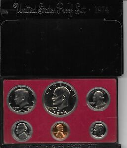 1974-S (San Francisco MINT)  PROOF SETS WITH EISENHOWER PROOF DOLLAR