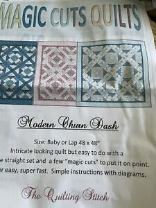 FLANNEL MODERN CHURN DASH BABY OR LAP QUILT KIT. 48 X 48  Simple Pattern