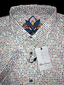 Robert Graham Size 2XL Vibrant Multi-Color Geometric Sport Shirt - $198 NWT