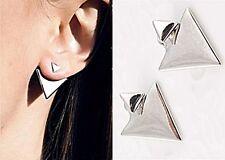 Damen Ohrringe Ohrstecker Dreieck Silber Glanz NEU 035