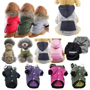 Pet Dog Puppy Winter Warm Padded Fleece Hoodie Coat Vest Clothes Apparel Jacket