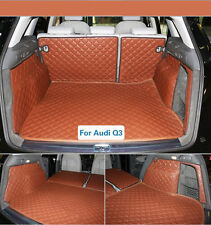 Trunk Boot Liner Mats Auto Car Carpet For Audi Q3 2011-2016 Years Waterproof Pad