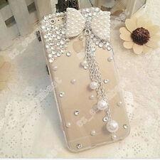 3D Handmade Bling Diamonds Rhinestone Crystal Hard Clear Phone Case Gems Cover