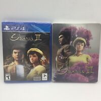Shenmue 3 w/ Limited Edition Steelbook Brand New & Sealed PS4 PlayStation