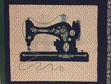 Sewing Machine - Blue - Quilt Fabric - 1 Panel
