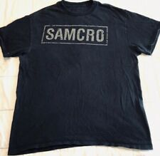 SAMCRO Sons of Anarchy Motorcycle Club TV Show T-Shirt Black Men's Size L