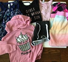 Girls Clothing Bundle Lot Size 10/12 Mixed Shorts Hoodie Romper Justice T-shirts