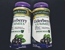 (1) Nature's Bounty Elderberry Gummies 100mg IMMUNE VIT C 70 Gummies EXP 10/21
