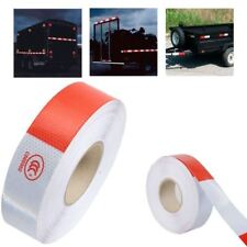 "2"" Vehicle Trailer Reflective Warning Safety Tape Fim Sticker Roll Strip 147ft"