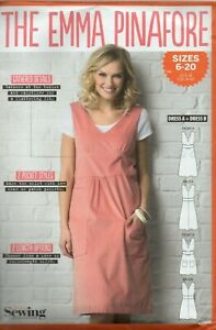 Simply Sewing Pattern for The Emma Pinafore, Long Maxi Option, Sizes 6-20, New