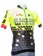 Hincapie Team Holowesko Short Sleeve Aero Jersey Men MEDIUM Yellow Bike Merckx