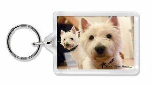 Westie Dogs 'Love You Mum' Photo Keyring Animal Gift, AD-W1lymK