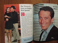 1967 Det. News TV Mag(ANDY  WILLIAMS/CLAUDINE LONGET/JIMMY DURANTE/SANDY ROBERTS