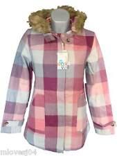 ROXY Purple Check Duffle Parka Winter Coat Jacket Hooded BNWT XSl Small Medium