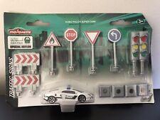 MAJORETTE DUBAI POLICE SUPER CARS SPECIAL EDITION TRAFFIC SIGNS LAMBORGHINI