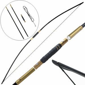 "65"" Archery Traditional Longbow 25-70lbs Takedown Straight Bow Hunting RH LH"
